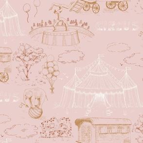 Circus Toile De Jouy boho pink
