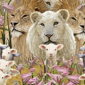 Lions, lambs and easter lilies by Su_G_©SuSchaefer