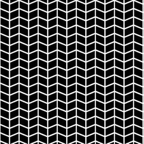 black + white herringbone