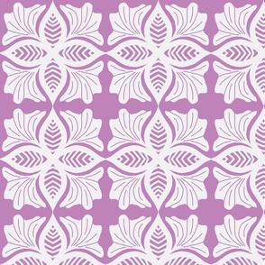 lace on purple