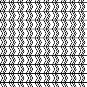 black + white chevron zigzags horizontal