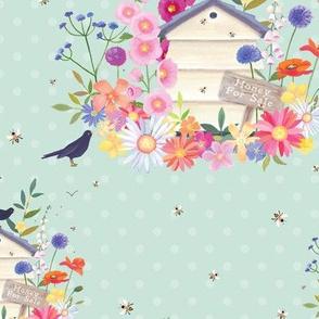 Beehive and blackbirds