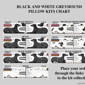 Greyhound kits - links to cut and sew fabrics