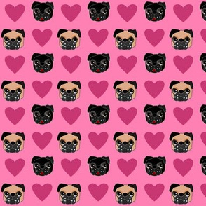 Pug Love, small print