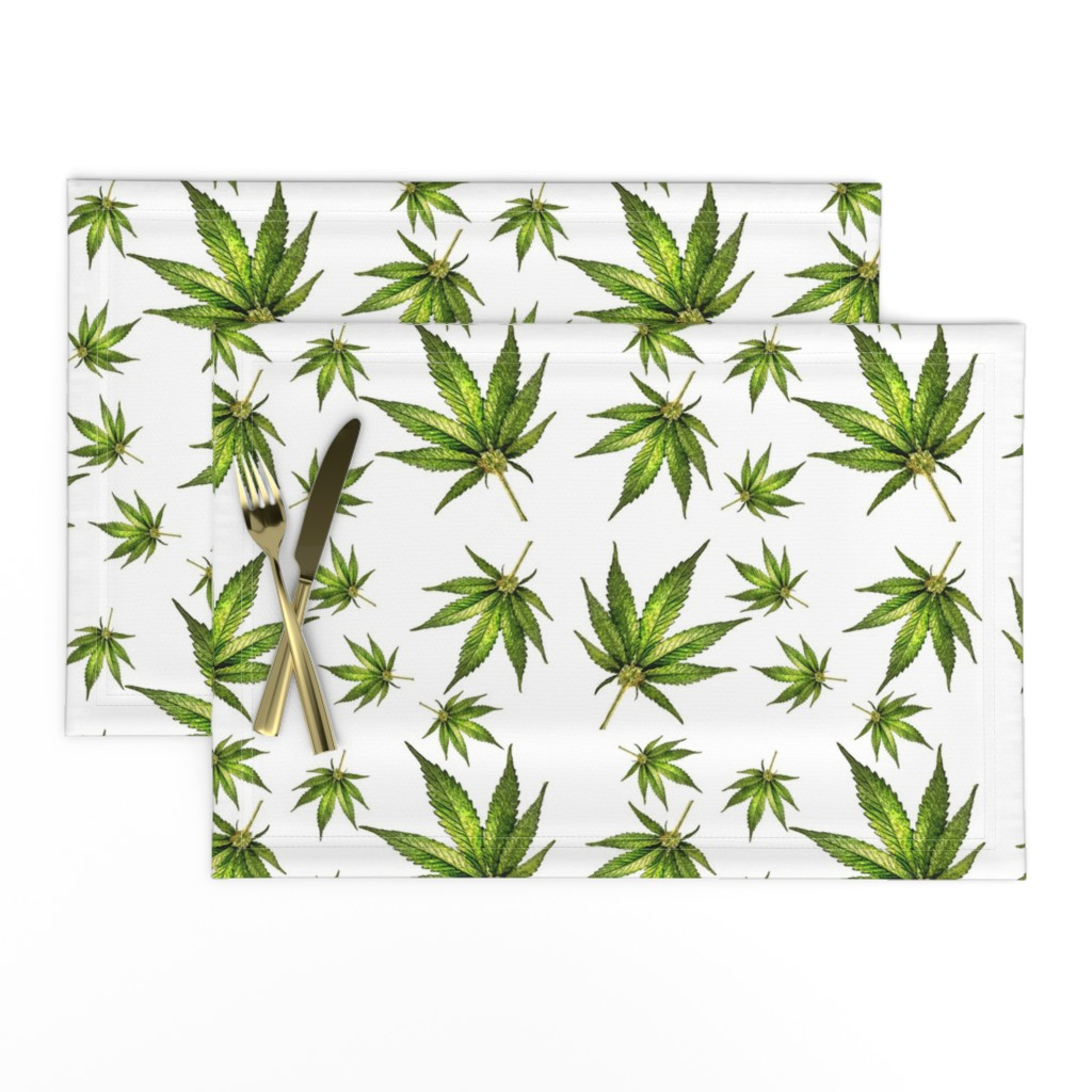 Lamona Cloth Placemats featuring Humboldt On White by rima