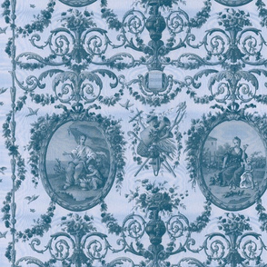 Rococo Harvest ~ Blue Moire