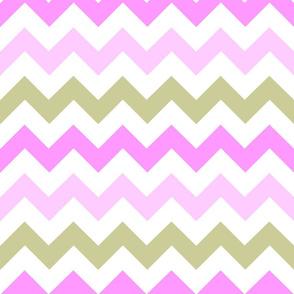 Pink & Tan Chevron