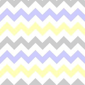 Yellow & Gray Chevron