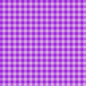 bright purple gingham