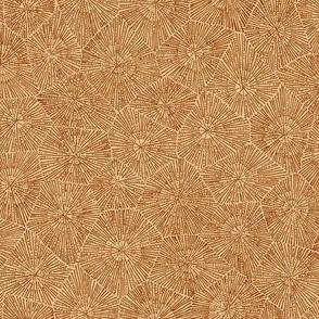 petoskey stone in brown