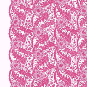 Dragonfly Lace ~ Tiers ~ Pink & White