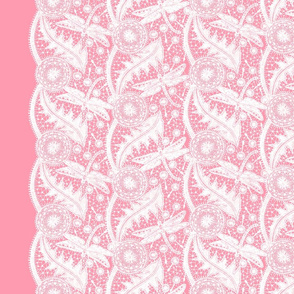 Dragonfly Lace ~ Tiers ~ White & Pink