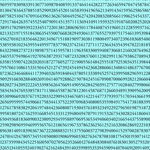 10,000 pieces of pi (mint blue)