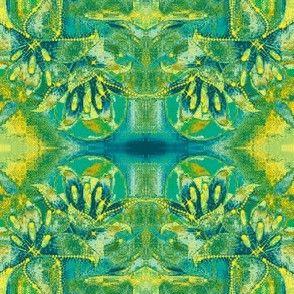 Flowers6-teal/green