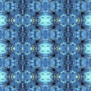Flowers16-blue/black-Small