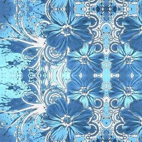 Flowers16-blue/white-Large