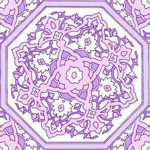 Persian Tile ~ Pink & White & Lavender