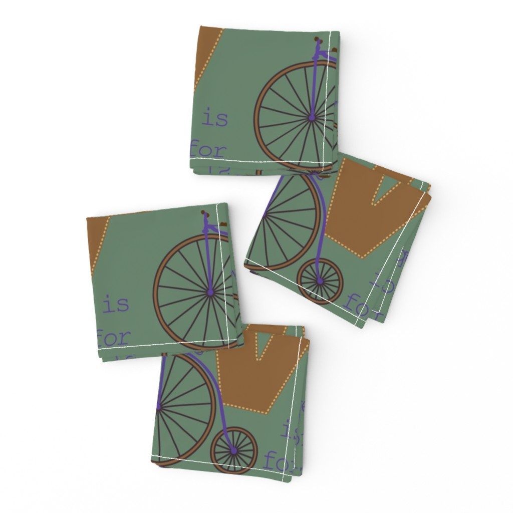 Frizzle Cocktail Napkins featuring V is for Velocipede by phantomssiren