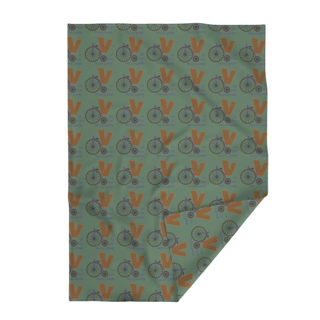 Lakenvelder Throw Blanket featuring V is for Velocipede by phantomssiren