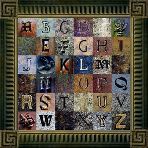 ABCs of the Churchyard ~ w/Frame