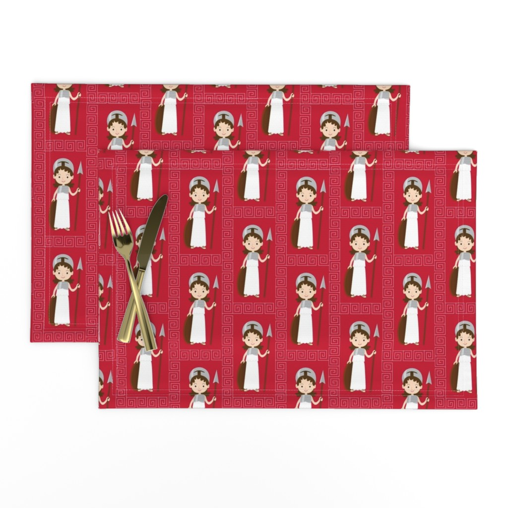 Lamona Cloth Placemats featuring The goddess Athena  by petitspixels