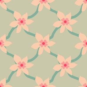 Pink Blossom Grid