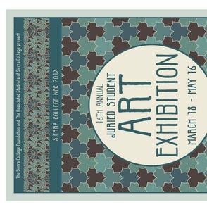 Artshow poster Mucha linen teatowel-18x27