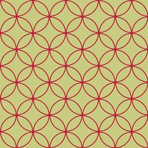 Encircled ~ Moss and Crimson