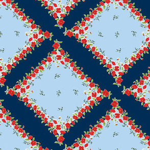 Fourth of July Grandma's Handkerchief on Point