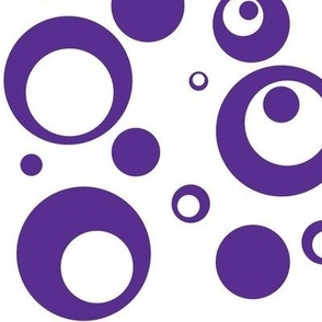 Circles and Dots White with Grape Juice
