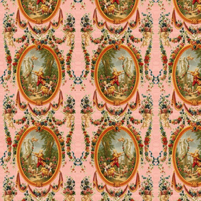 Rococo Swingers ~ Marie Antionette Pink Moire