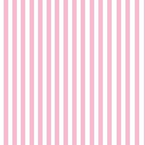Perfectly Pinstripe in Baby Pink // White