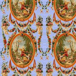 Rococo Swingers ~ King Louis Blue Moire