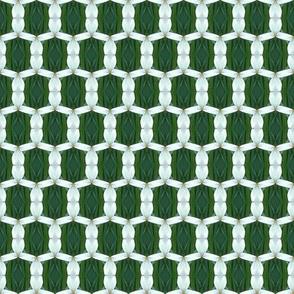 White garden mesh D-3
