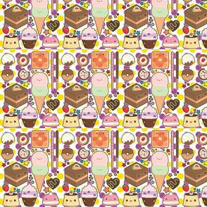 sweets yummys fabric
