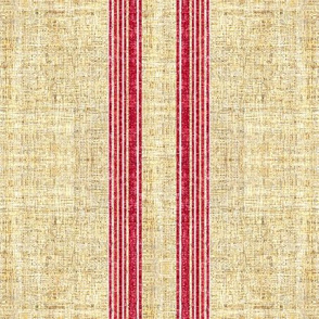 Faux Linen Vintage Grain Sack French Ticking Stripe