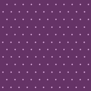 lavender polka dots on purple