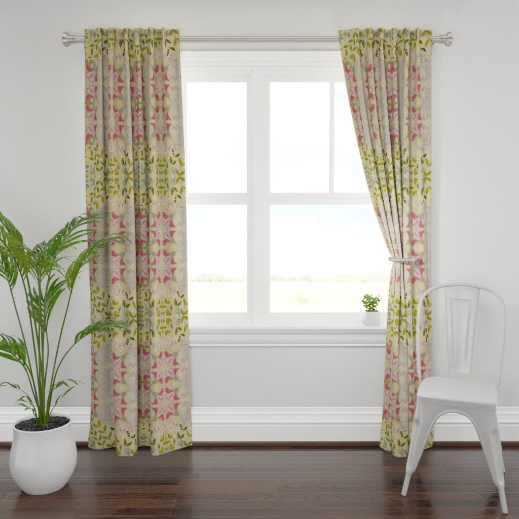 Plymouth Curtain Panel featuring pinkdaffs by maria_pezzano