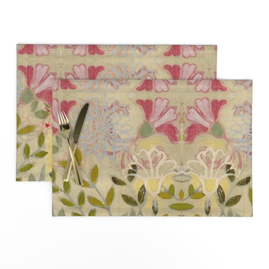 Lamona Cloth Placemats featuring pinkdaffs by maria_pezzano