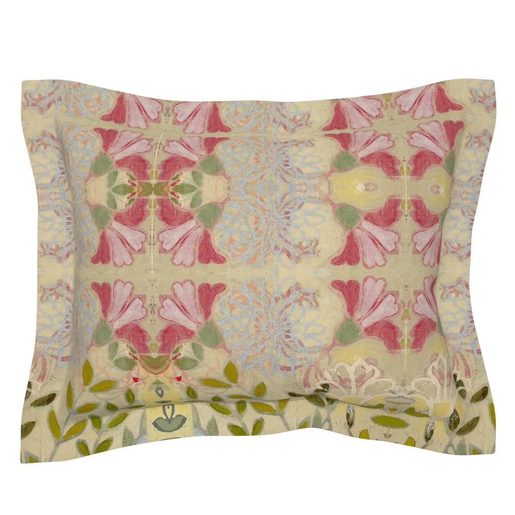 Sebright Pillow Sham featuring pinkdaffs by maria_pezzano