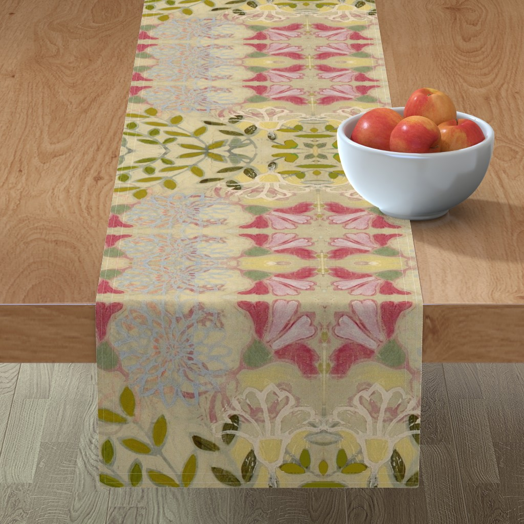 Minorca Table Runner featuring pinkdaffs by maria_pezzano