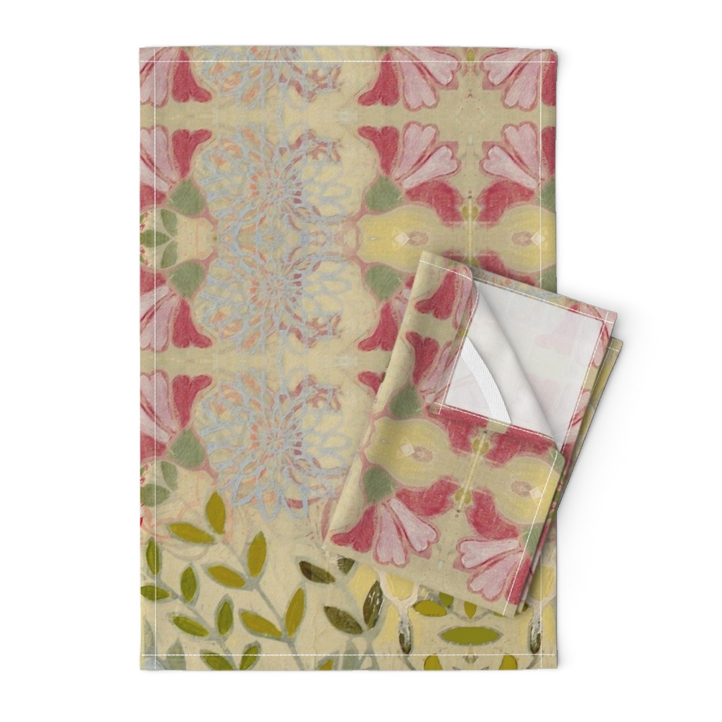 Orpington Tea Towels featuring pinkdaffs by maria_pezzano