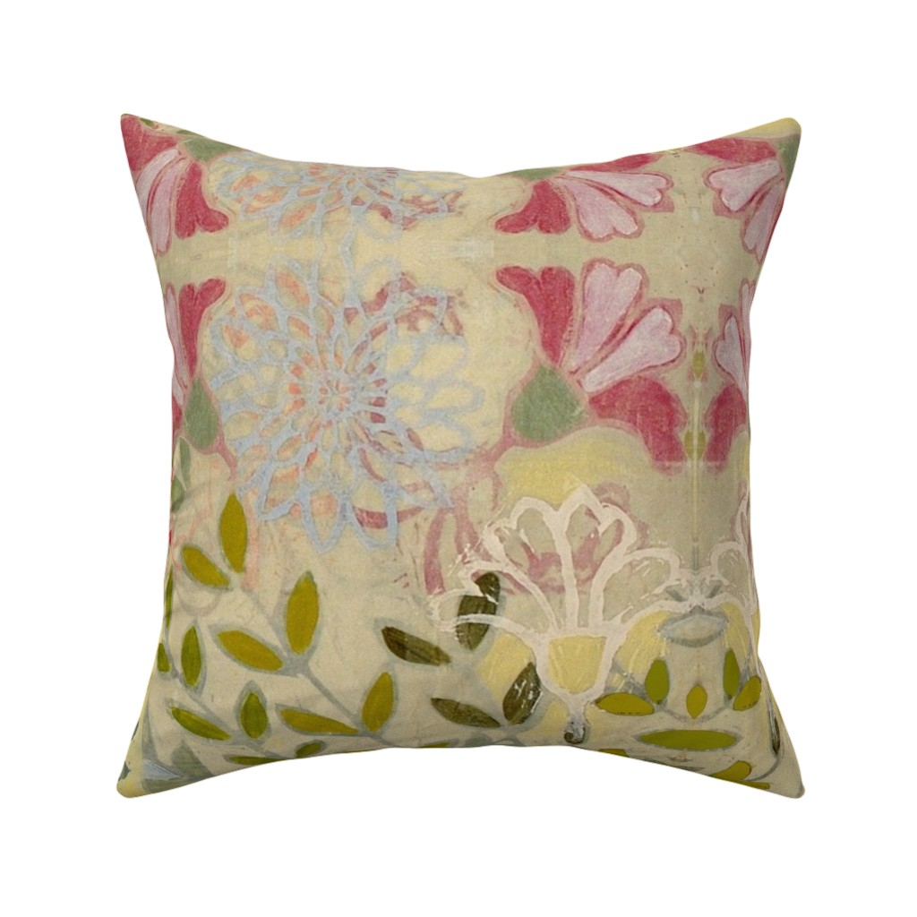 Catalan Throw Pillow featuring pinkdaffs by maria_pezzano