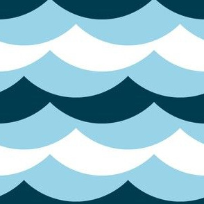 01876414 : scallop wave zigzags : sailing