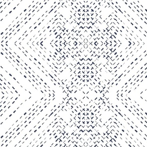 Diamond denim on white  tile