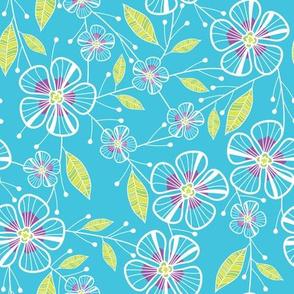 Bouquet Flowers (Blue)