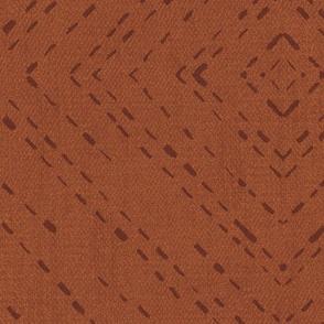diamond tile terracotta
