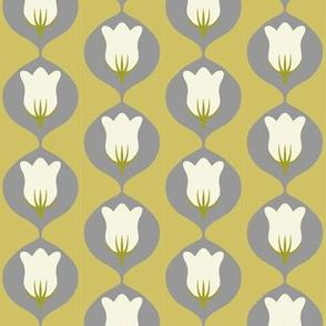 mid-century tulip in alloy