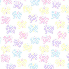 Soft Pastel Flower Butterfly