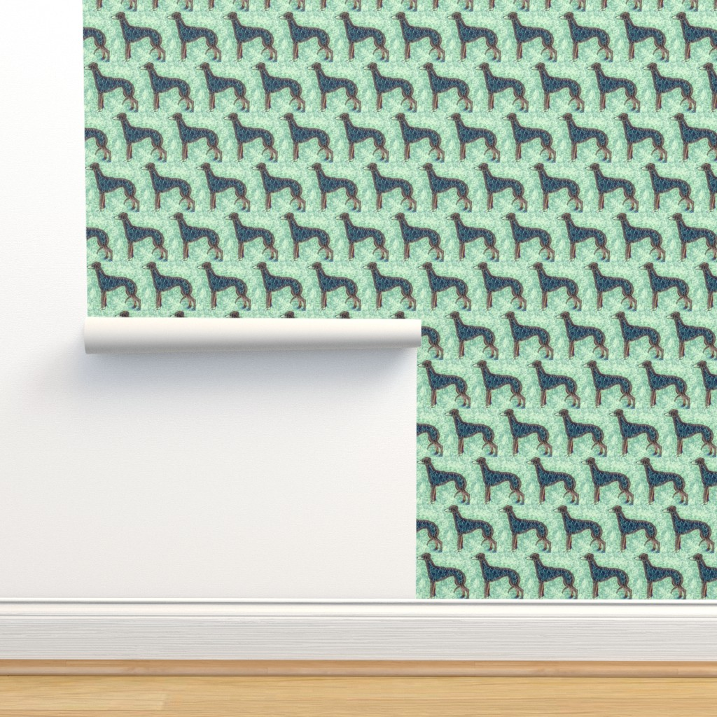 Isobar Durable Wallpaper featuring blue greyhound by heavenly_lotus